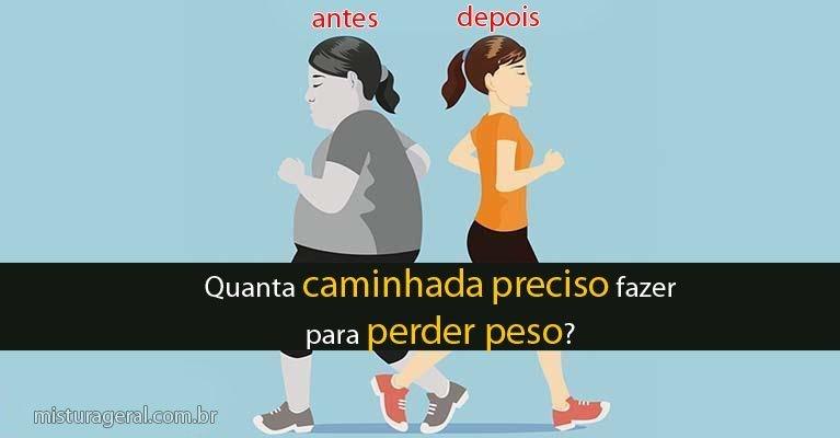 quanto caminhar para começar a perder peso