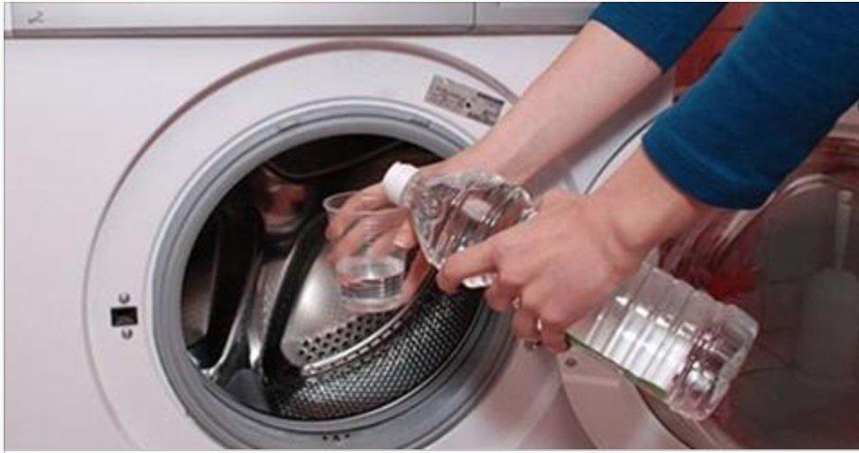 vinagre na máquina de lavar